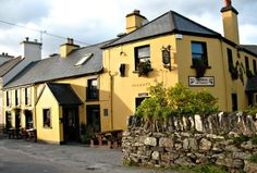 The Blind Piper Pub, Caherdaniel, County Kerry.  Blindingly good pub - great Guiness and even better food! All within walking distance of Derrynane Beach, one of the best in South West Ireland.