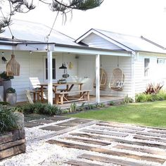 There's only a few weekends left to experience the stunning SOUL Cottage summer pop up! This 3 bed home is the most gorgeous beach chic… Farm Cottage, Cottage Homes, Outdoor Rooms, Outdoor Living, Fresco, Beach Shack, House Front, House Painting, House Colors
