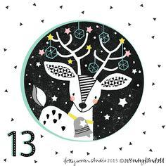 dottywrenstudio: advent...day 13