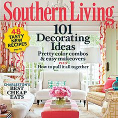 I want this fabric for curtains and chairs. Southern Living Magazine May Issue