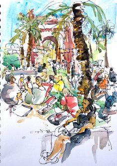 Sketchcrawl at Arc de Triomf, Barcelona | by suhita1
