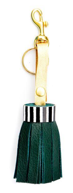 Pattern Play Tassel Keyring