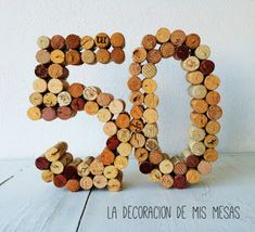 Imagen 0 50th Birthday Celebration Ideas, 50th Birthday Party, Diy And Crafts, Crafts For Kids, Wine Cork Art, Birthday For Him, Ideas Para Fiestas, Wine Parties, Wooden Art