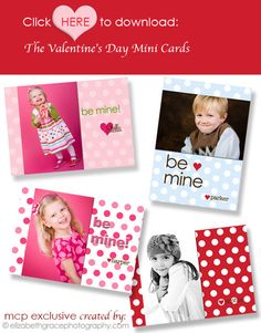 Free Valentine Mini Cards Template -