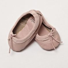 Baby girl ballerina leather shoes - pink leather - Tocoto Vintage