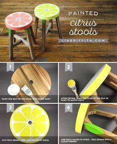 #citrus stools at www.LiaGriffith.com