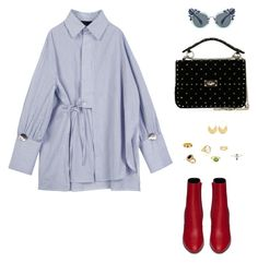 """""""Untitled #670"""" by n-abagnale on Polyvore featuring Yves Saint Laurent, Allurez, Valentino, Miu Miu and Ottoman Hands"""