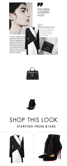"""1 2 3 now"" by janchy1 ❤ liked on Polyvore featuring Thierry Mugler, Christian Louboutin, Gucci, women's clothing, women, female, woman, misses and juniors"