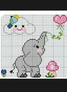 Tiny Cross Stitch, Baby Cross Stitch Patterns, Cross Stitch For Kids, Cross Stitch Kits, Cross Stitch Designs, Elephant Cross Stitch, Cross Stitch Animals, Cross Stitching, Cross Stitch Embroidery