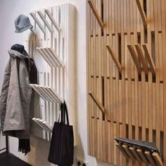 I really love this hangers on the wall!! It can be wood craft when you don't use it. #StorageWorks