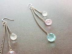 Ethnic Silver Teardrop Gem Chandelier Earrings Beaded  Ethnic Silver Teardrop Gem Chandelier Earrings Beaded http://etsy.me/2rSJ0l7 @Etsy #Jewellery #Jewelry #Silver #Minimal #Boho #Gem #Dangle