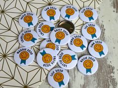 Custom School Merit Badges Custom Badges, Custom Buttons, Hen Party Badges, Badge Maker, School Leavers, School Badges, Kids Rewards, Birthday Badge, Free Buttons