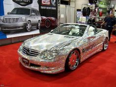 Check Out The Amazing Diamond Mercedes : the 38th car of Prince Al-Waleed · Rear Portion of Diamond Mercedes.THE CAR COSTS $4.8 MILLION AND IF YOU WANT TO TOUCH IT, YOU HAVE TO PAY 1000 $.
