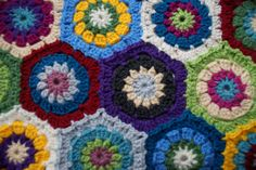 Gorgeous crochet blanket.