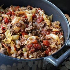 Unstuffed Cabbage Roll - long before this recipe showed up on the internet we have been making it. It is sooooo delicious served over rice with homemade cornbread on the side.