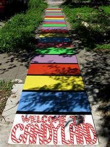 candi land, birthday parties, candies, board games, walkway, candy land party, parti idea, candyland parti, kid