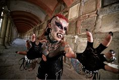 Maria Jose Cristerna from Mexico. She has had 49 body modifications to make her extremely frightening, you can see why she has been nick-named ' Maria Jose Cristerna from Mexico. She has had 49 body modifications to make her extremely frightening, you can see why she has been nick-named 'The Vampire Lady'.