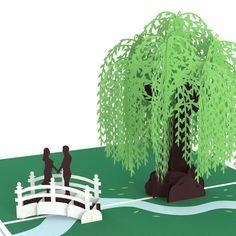Willow tree pop up cardkirigami pattern 1 kirigami jenigami willow love scene m4hsunfo