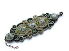 Bracelet JASPER soutache by GosiaBizu