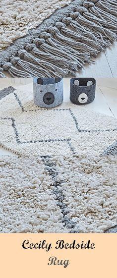 Cecily Bedside Rug - #bedside #cecily Ecru Color, Bedside, Delicate, Room Decor, Rugs, Decoration, Design, Dekoration, Home Decor