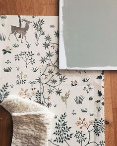 @lewisandwood love this whimsical wallpaper and fabric - double the prettiness!