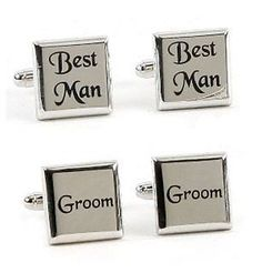 These Best Man Groom Cufflinks Set from Meadow Gifts will make a great gift and come presented in a single cufflink box