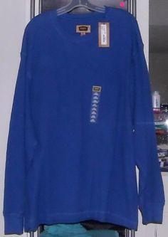 FOUNDRY 3XL Big & Tall L/S Bright Cobalt Blue Crewneck 100% Cotton Thermal  NWT #FoundrySupply #Crewneck