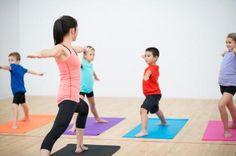 kids in yoga class