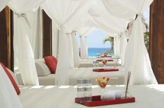 Clean and relaxing cabanas...