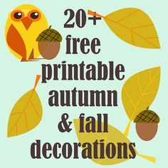 20+ free printable DIY fall decorations ^^