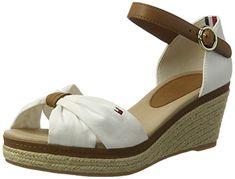 5316f5d4aa51 Tommy Hilfiger Women s E1285lba 40d Wedge Heels Sandals  Amazon.co.uk  Shoes    Bags