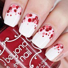 Valentine's Day Dotticure #nails #nailart