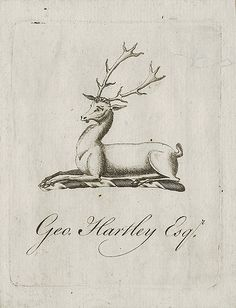 [Bookplate of Geo. Hartley]