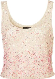 Ombre Multi Sequin Vest