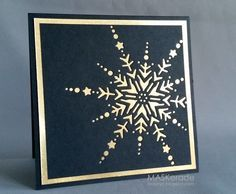 Gold and Midnight blue Christmas card.