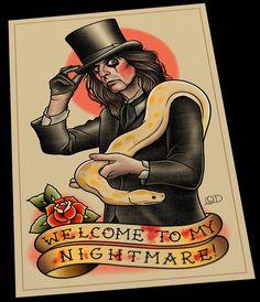 Alice Cooper Flash Art Print