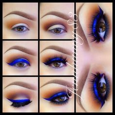Electric Blue | Eyeshadow For Brown Eyes | Makeup Tutorials Guide