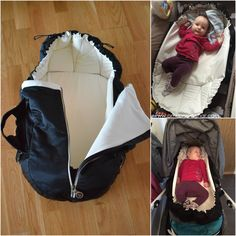 Najell SleepCarrier soft carrycot from Sweden + Windcover