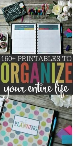 This Organized Life Binder Tour Life can be hectic, but being organized can help. With more than 164 printables, you can create an organized life and keep track of everything. Planner Pages, Life Planner, Printable Planner, Happy Planner, Planner Stickers, Planner Ideas, Weekly Budget Printable, 2015 Planner, College Planner