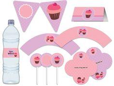 Blog da Tuty: Monte sua Festa - Cupcake rosa e lilás