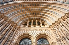 The stunning facade at The Natural History Museum in London