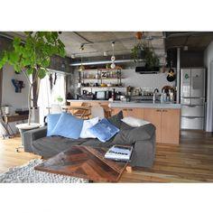 aaniさんの、Overview,ソファ,IDEE,CIBONE,無垢の床,ウンベラータ,アルファベットオブジェ,リノベーション,NOYES,オルネドフォイユ,NO GREEN NO LIFE,植物のある暮らし,CPCMについての部屋写真