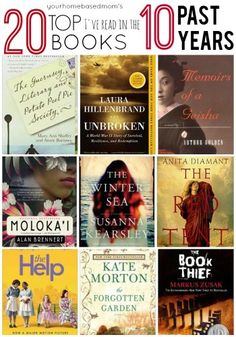 Sharing a fun round up of my 20 Top books of the past 10 years. So many good books!