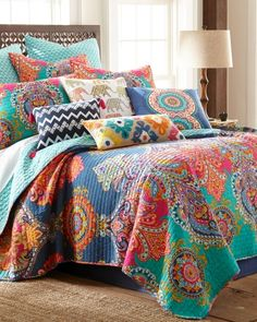 Fantasia, Stein Mart, Paisley Luxury Reversible Quilt Collection, Main View