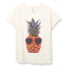 Womens Boho Pineapple Sunglasses Shirt Trendy Tumblr Shirt Tee Top... ($28) ❤ liked on Polyvore featuring tops, t-shirts, white, women's clothing, vintage shirts, white t shirt, cotton shirts, relax t shirt and short sleeve t shirt