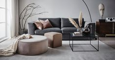 〚Soft and elegant Scandinavia in interiors by Jotex〛〛 Photos ◾Ideen◾ design - Interieur - Home Style - Elegant Living Room Decor, Living Design, Elegant Living Room, Living Decor, Home Decor, Sofa Inspiration, Living Room Furniture, Room Decor, Interior Design Living Room Warm