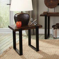 Coaster Furniture Wood Top End Table - Vintage Brown, Black #CoasterFurniture #coasterfurniturebrown