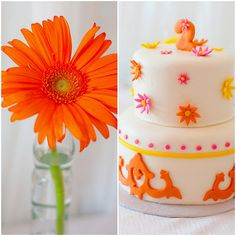 Alexa Cate's Pink and Orange Birthday Party :: Sweet Customers - The TomKat Studio