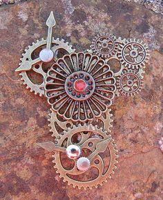Tree of Life Glass Bead Brooch Lapel Pin Badge Handmade Arts and Craft, Victorian