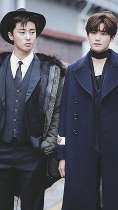 Park Seo Joon & Park Hyung Sik — Hwarang for Vogue Park Hyung Sik Hwarang, Park Hyung Shik, Korean Drama, Oppa Gangnam Style, K Drama, Park Seo Joon, Yoo Ah In, Handsome Korean Actors, Korean Star